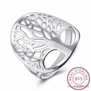 Tree of Life 925 sterling silver ring